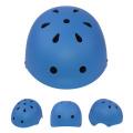 Capacete azul de patins em linha para crianças e adultos