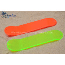 Free Shipping Wholesale Plastic UV Coating Fishing Flasher