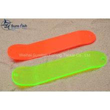 Frete Grátis Atacado Plastic UV Coating Flasher Pesca