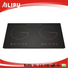 Ailipu 220V 3600W 2 Burns sensor de indução de toque Cooktop Sm-Dic08
