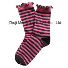 Fancy Girl Cotton Socks with Wrinkle Cuff