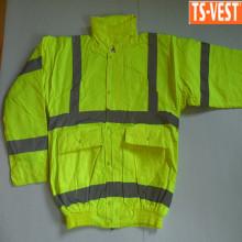 300D oxford fabric safety waterproof work reflector men jacket
