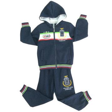 Children Suit Boy Suit Sport Suit in Children Clothes Track Suit with Zipper and Hoodies Swb-113