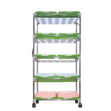 Stainless Steel and Plastic Shelf Nursery Plant Rack