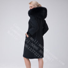 Cappotto in shearling merino Australia Lady con decorazione brillante