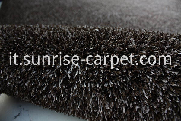 Fabric polyester gradational color floor carpet brown beige color