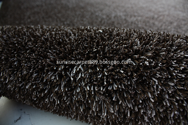 Fabric polyester gradational color floor carpet brown beige color