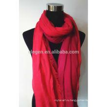 100% хлопок градиент цвета шарф с Fringe