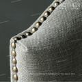 Le plus populaire Tissu Tufted Style Ergonomique Chêne Diner Chaise
