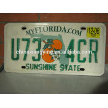 Custom Embossed License Plate Tourist Collection License Plate Car Plate