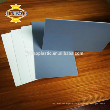 JINBAO 1.22x2.44m pvc board 20mm rigid pvc sheet 1.5 density