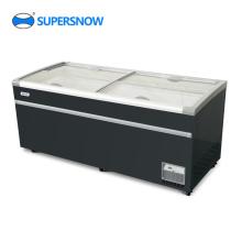 Réfrigérateur congélateur coffre à 4 portes vitrées
