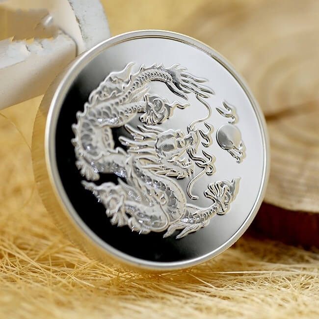 Metal Silver Proof Coin voor Souvenir