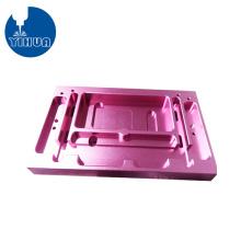 Caja de aluminio morado anodizado de fresado CNC