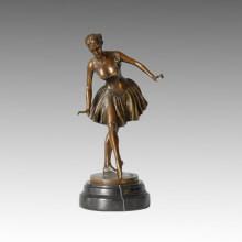Dancer Statue Ballet Student Bronze Sculpture TPE-453