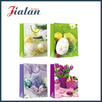 Glossy Laminated Coated Paper Easter Egg Shopping Gift Paper Bag