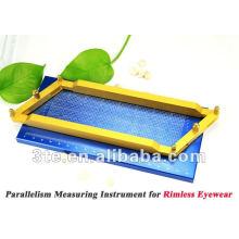 Paralelismo instrumento de medição para quadros de óculos