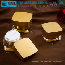 YJ-KD-Serie 15g 30g 50g achteckigen Platz kosmetische Acryl Glas