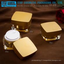 YJ-KD série 15g 30g 50g octogonale carré cosmétique pot acrylique