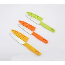 Gemüsemesser aus Edelstahl, Fruchtmesser mit Scheide