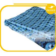 Tissu imprimé par polyester bon marché avec la poudre d'or ou la poudre argentée