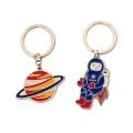 creative spaceman plastic key chains