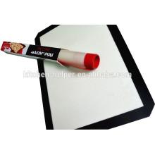 Venta al por mayor fabricante profesional de alta Qaulity grado de alimentos Softly antiadherente resistente al calor de fibra de vidrio de silicona Baking Mat
