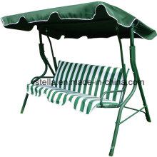 3 sièges jardin patio extérieur Canopy Beach Glider