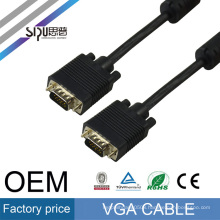 SIPU High speed 30m black 3+6 VGA to VGA cable male to male for projector