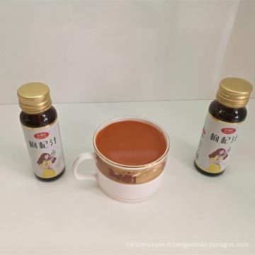 Chine fabricant 100% naturel rouge goji boisson jus d'énergie
