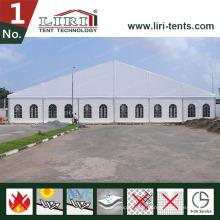 Tentes de mariage en aluminium 25X15 en gros avec parois latérales en PVC transparent