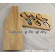 cheese knife set include 2pcs cheese knife with corkscrew set in box