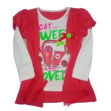 Nettes Mädchen Kinder T-Shirt in Kinder tragen