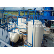 90% oil output tyre oil distillation machine plastic oil recycling plant