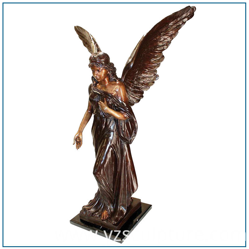 Large Bronze Angle Statue