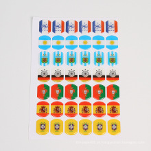 personalizado 3d claro resina epóxi laser adesivos