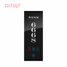 ACTOP garage door hardware door number plate