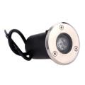 White IP68 Stainless Steel 1W 12V LED Underground Light