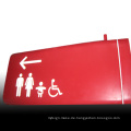 Edelstahl lackiert Waschraum Access Route Zeichen