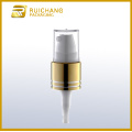 16mm aluminium cream pump with small overcap