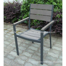 Aluminium wooden garden chair