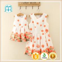 diseños de vestidos de bebé niñas vestido de fiesta al por mayor boutique de niños ropa para niños vestido de mujer vacaciones dulces vestidos frescos