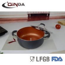 utensilios de cocina de cobre con mango ss