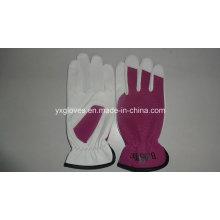 Guante de jardín-oveja guante de cuero-guante de cuero-trabajo guante de levantamiento de pesas guante-guantes de cuero