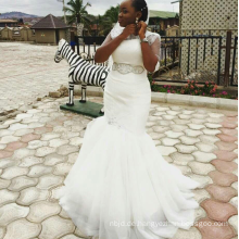 China OEM billige Trompete weiße afrikanische Hochzeitskleider online