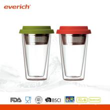 Новый продукт высокого качества Borosilicate Bpa Free Double Wall Glass Cup