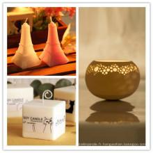 Bougies de cire de soja maison et mariage parfumées