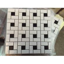 White Mix Black Ceramic Glass Mosaic