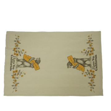 KEFEI custom printed digital printed cotton linen tea towel
