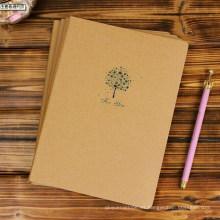 Libro de ejercicios de cubierta de papel Kraft